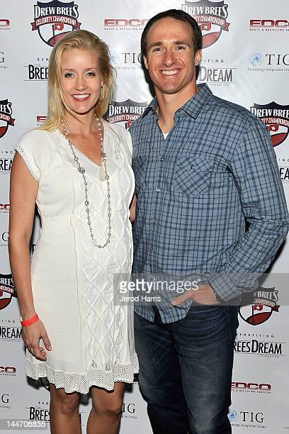Brittany Brees and Drew Brees celebrate the start of the Drew Brees Celebrity Championship with GREY GOOSE¨ Vodka on May 17 2012 in San Diego...