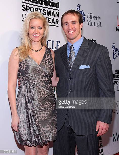 Brittany Brees and New Orleans Saints quarterback Drew Brees attend 2010 Sports Illustrated Sportsman of the Year Celebration at IAC Building on...