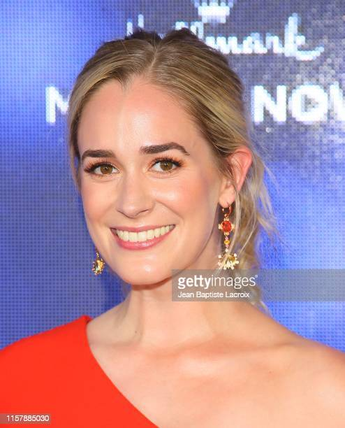 Brittany Bristow attends the Hallmark Channel and Hallmark Movies Mysteries Summer 2019 TCA Press Tour Event held at a private residence on July 26...