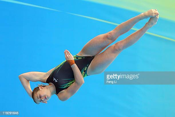 Brittany Broben of Australia competes in the Women's 1m Springboard preliminary round during Day Two of the 14th FINA World Championships at the...