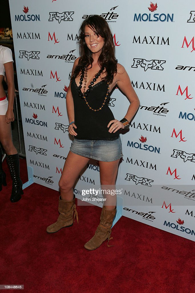 Brittany Brower during Maxim Magazine Celebrates The 2005 X-Games at Cabana Club in Los Angeles, California, United States.