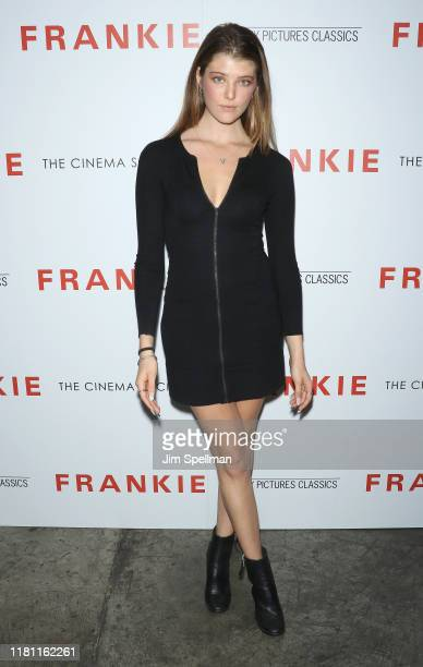 """Brittany Burke attends the special screening of """"Frankie"""" hosted by Sony Pictures Classics and The Cinema Society at Metrograph on October 14, 2019..."""