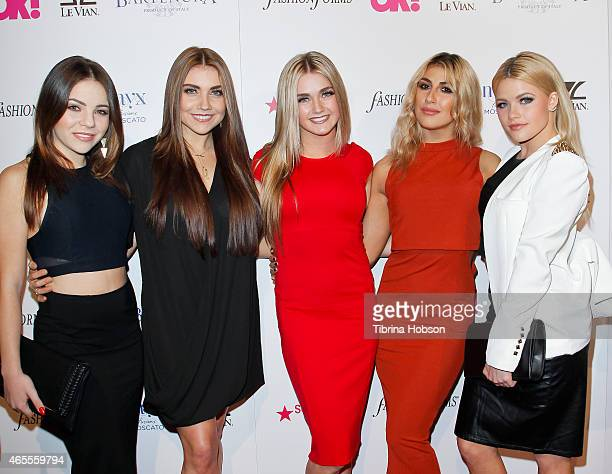 Brittany Cherry Jenna Johnson Lindsay Arnold Emma Slater and Witney Carson attend OK Magazine's PreOscar event at The Argyle on February 19 2015 in...