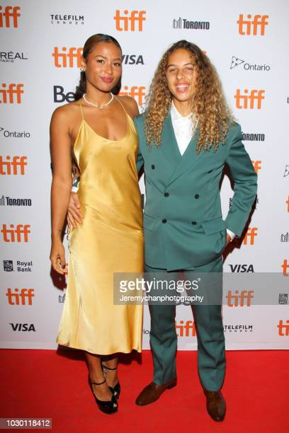 Brittany Colombo and Olan Prenatt attend the 'Mid90s' Premiere during 2018 Toronto International Film Festival at Ryerson Theatre on September 9 2018...
