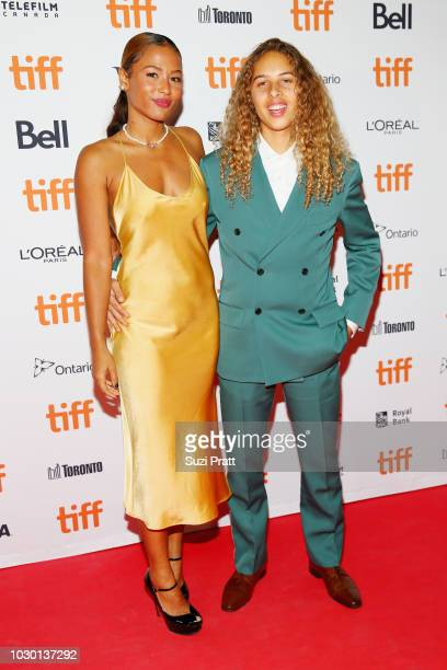 Brittany Colombo and Olan Prenatt attend the Mid90s premiere during 2018 Toronto International Film Festival at Ryerson Theatre on September 9 2018...