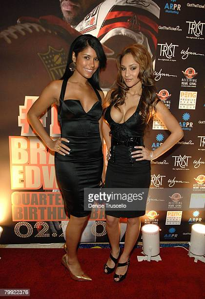 Brittany dailey stock photos and pictures getty images brittany dailey and shelly rio arrive at braylon edwards 25th birthday ballers bash altavistaventures Images