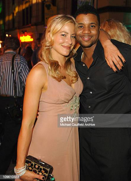 Brittany Daniel and Hosea Chanchez during The CW Launch Party - Inside at WB Main Lot in Burbank, California, United States.