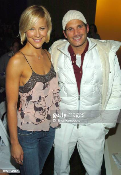 Brittany Daniel and Phillip Bloch during Olympus Fashion Week Fall 2004 - Rebecca Taylor - Front Row and Backstage at The Supper Club in New York...