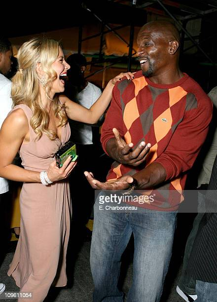 Brittany Daniel and Terry Crews during The CW Launch Party - Inside at WB Main Lot in Burbank, California, United States.