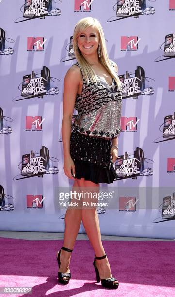 Brittany Daniel arrives for the 2007 MTV Movie awards at the Gibson Amphitheatre Universal City Los Angeles