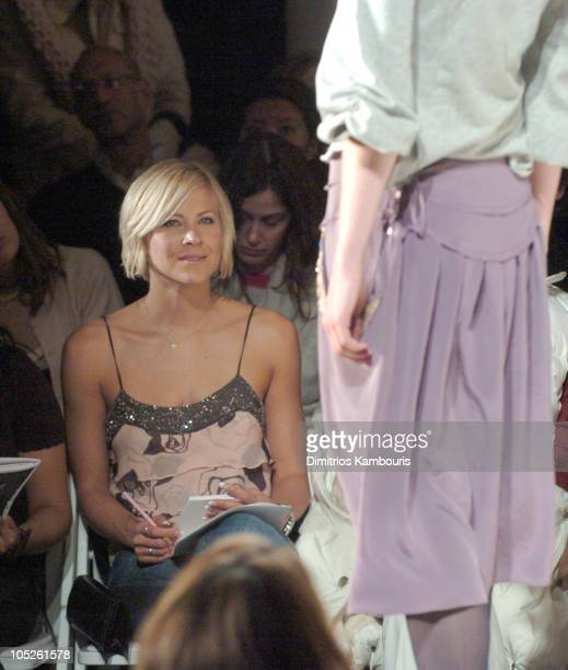 Brittany Daniel during Olympus Fashion Week Fall 2004 - Rebecca Taylor - Front Row and Backstage at The Supper Club in New York City, New York,...