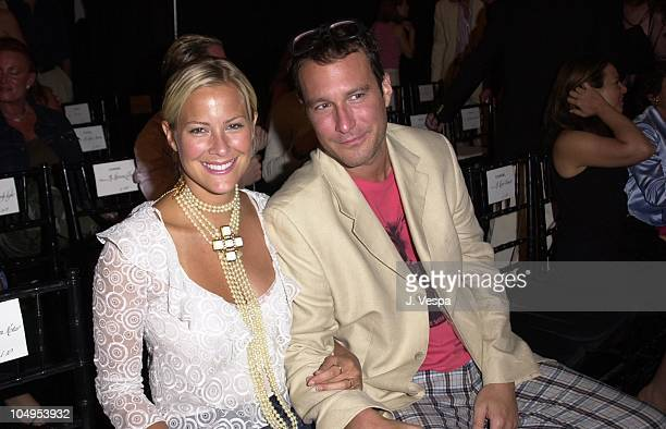 Brittany Daniel John Corbett during Chanel Fall/Winter 2001 Ready to Wear Collection Fashion Show at Villa Maria in Water Mill New York United States