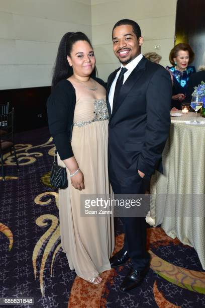 Brittany Ellis and Jalen Bowers attend The Boys' Club of New York Annual Awards Dinner at Mandarin Oriental Hotel on May 17 2017 in New York City