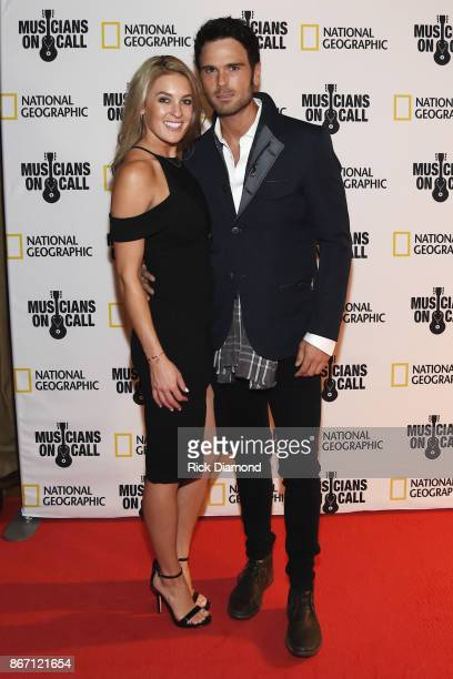 Brittany Farrar and Singer/Songwriter Chuck Wicks attend Musicians On Call 10th Anniversary In Nashville With Lady Antebellum at City Winery...