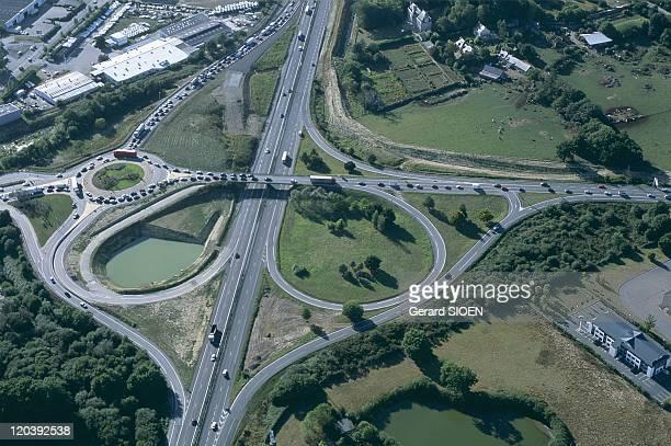 Brittany, France - Morbihan, near Vannes, interchanges.