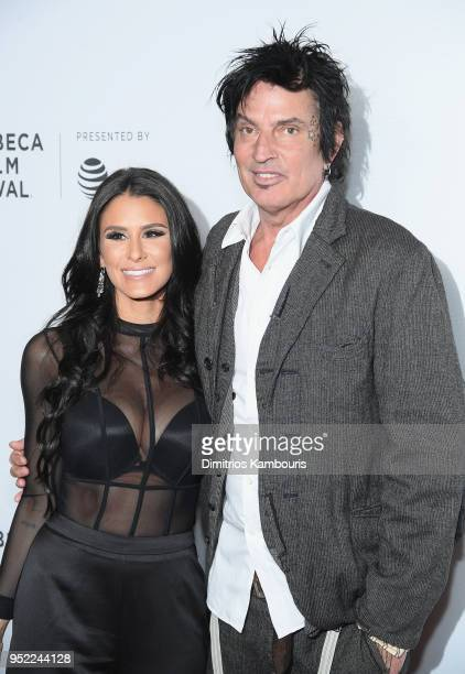 Brittany Furlan and Tommy Lee attend the 2018 Tribeca Film Festival World Premiere of Bert Marcus' THE AMERICAN MEME on April 27 2018 at Spring...