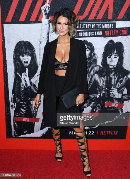 Brittany Furlan arrives at the Premiere Of Netflix's The Dirt at ArcLight Hollywood on March 18 2019 in Hollywood California
