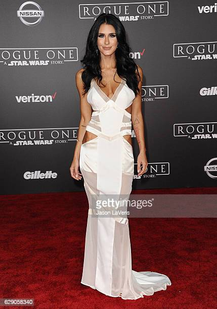 Brittany Furlan attends the premiere of Rogue One A Star Wars Story at the Pantages Theatre on December 10 2016 in Hollywood California