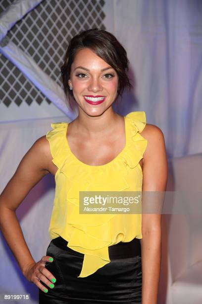 Brittany Gerena poses at Mercedes Benz Fashion Week Swim at The Raleigh on July 18, 2009 in Miami, Florida.