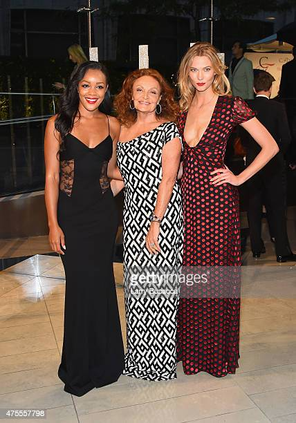 Brittany Hampton Diane von Furstenberg and Karlie Kloss attend the 2015 CFDA Fashion Awards at Alice Tully Hall at Lincoln Center on June 1 2015 in...