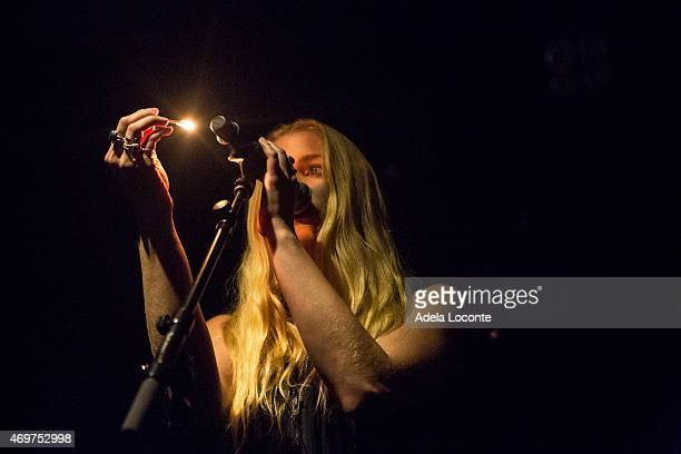 Brittany Holljes from Delta Rae performs at Webster Hall on April 14 2015 in New York City