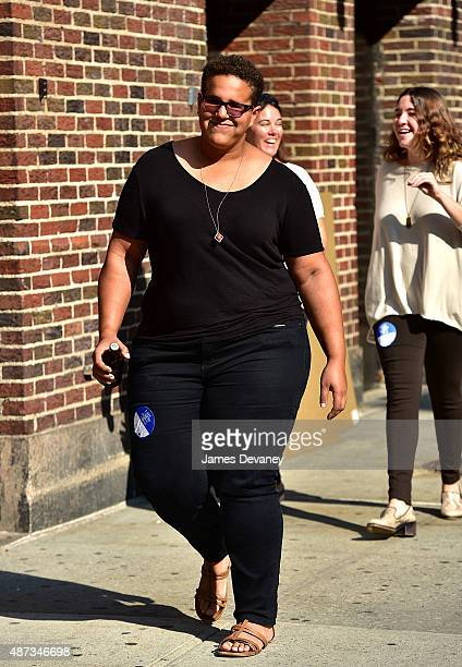 Brittany Howard arrives to the first taping of The Late Show With Stephen Colbert at Ed Sullivan Theater on September 8 2015 in New York City