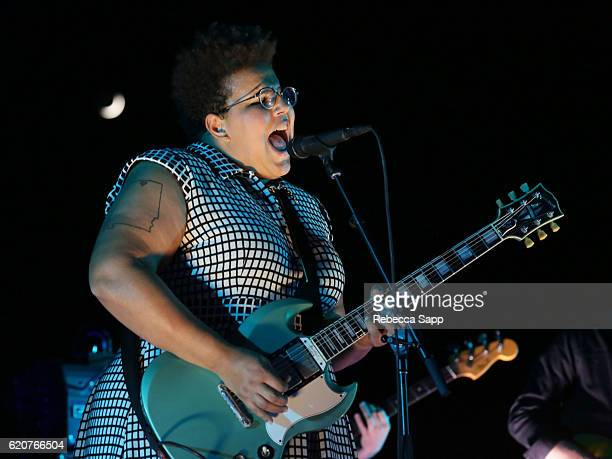 Brittany Howard of Alabama Shakes performs at Alabama Shakes House Concert hosted by Brian Adria Sheth on November 2 2016 in Beverly Hills California