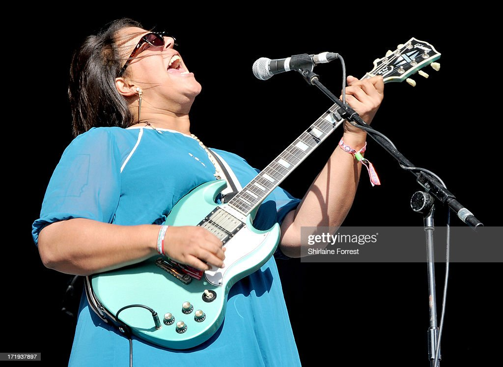 Brittany Howard of Alabama Shakes performs at day 3 of the 2013 Glastonbury Festival at Worthy Farm on June 29, 2013 in Glastonbury, England.
