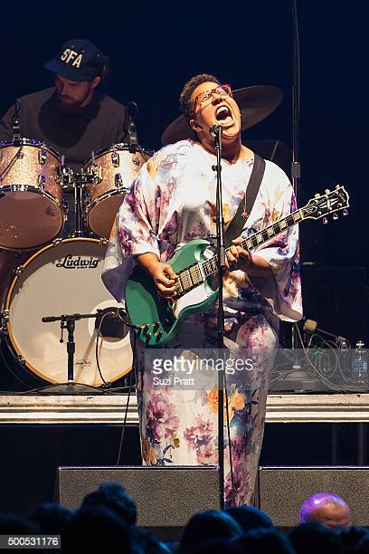 Brittany Howard of Alabama Shakes performs at Deck the Hall Ball at KeyArena on December 8 2015 in Seattle Washington