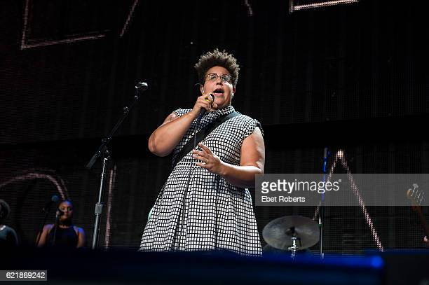Brittany Howard of Alabama Shakes performs at Farm Aid at Jiffy Lube Live in Bristow Virginia on September 17 2016