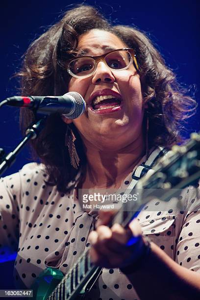 Brittany Howard of Alabama Shakes performs at Paramount Theatre on March 3 2013 in Seattle Washington