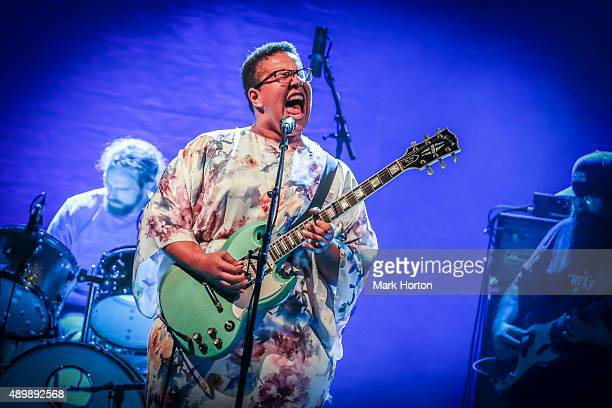 Brittany Howard of Alabama Shakes performs at TD Place Stadium on September 24 2015 in Ottawa Canada