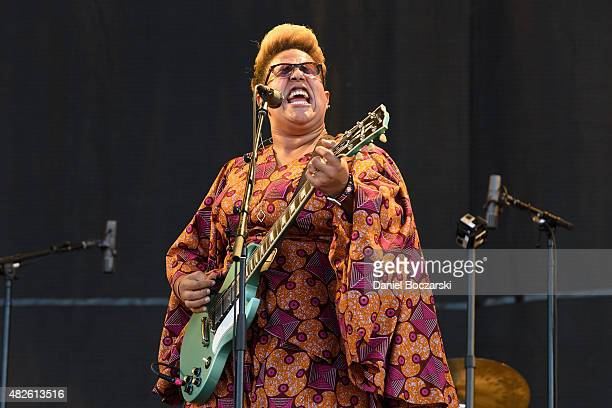 Brittany Howard of Alabama Shakes performs during Lollapalooza 2015 at Grant Park on July 31 2015 in Chicago Illinois