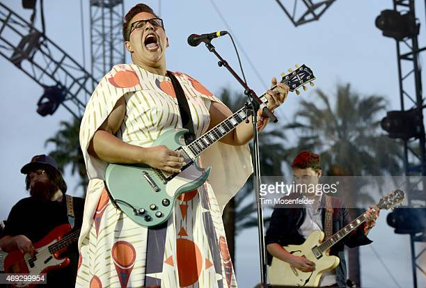 Brittany Howard of Alabama Shakes performs during the 2015 Coachella Valley Musica and Arts Festival at The Empire Polo Club on April 10 2015 in...