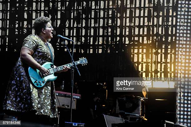 Brittany Howard of Alabama Shakes performs during the 2016 Panorama NYC on Randells Island on July 22 2016 in New York City