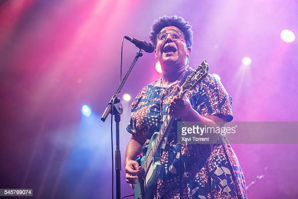 Brittany Howard of Alabama Shakes performs in concert during day 2 of Festival Cruilla on July 9 2016 in Barcelona Spain