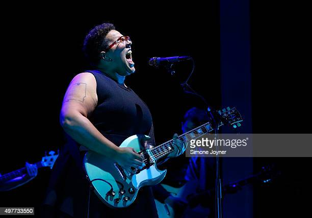 Brittany Howard of Alabama Shakes performs live on stage at O2 Academy Brixton on November 18 2015 in London England
