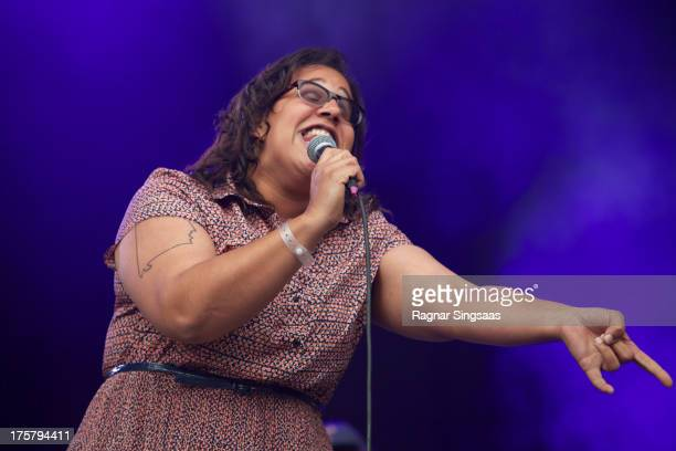 Brittany Howard of Alabama Shakes performs on Day 1 of the Way Out West Festival at Slottskogen on August 8 2013 in Gothenburg Sweden