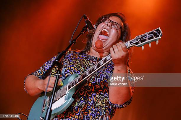 Brittany Howard of Alabama Shakes performs on stage at Hollywood Palladium on July 17 2013 in Hollywood California