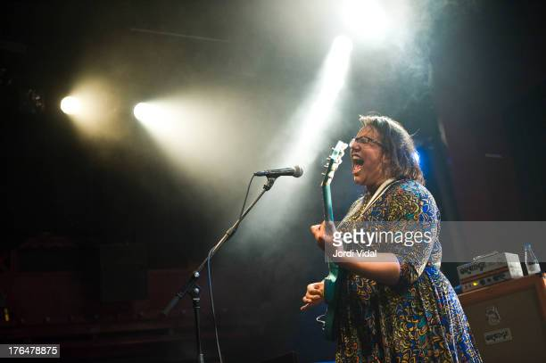 Brittany Howard of Alabama Shakes performs on stage at Sala Apolo on August 13 2013 in Barcelona Spain