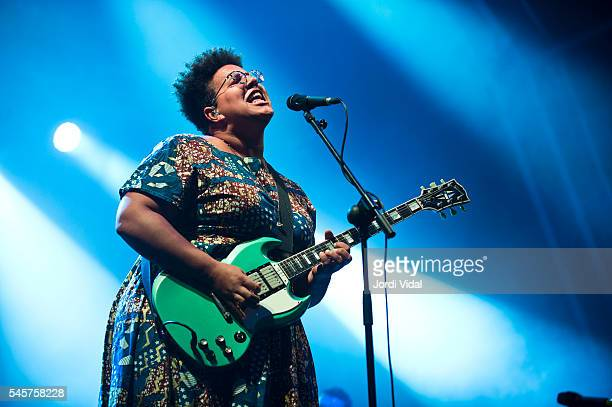 Brittany Howard of Alabama Shakes performs on stage during Day 2 of Cruilla Festival at Parc del Forum on July 9 2016 in Barcelona Spain
