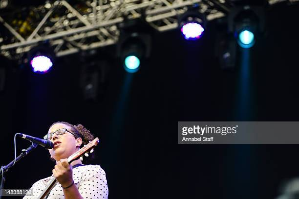 Brittany Howard of Alabama Shakes performs on stage during day four of Latitude at Henham Park Estate on July 15 2012 in Southwold United Kingdom
