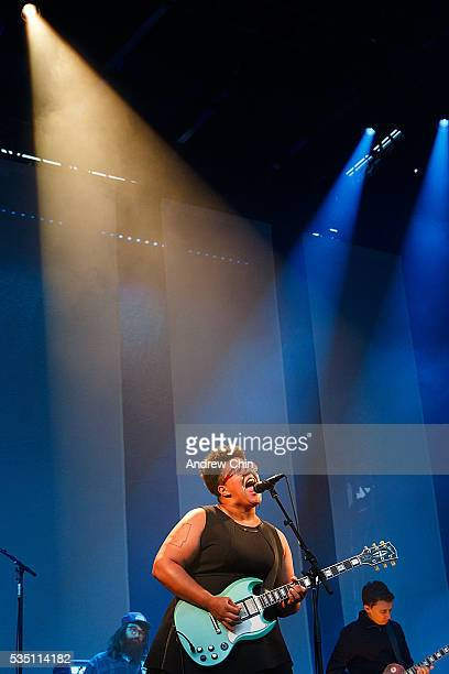 Brittany Howard of Alabama Shakes performs onstage at Deer Lake Park Festival Lawn on May 28 2016 in Burnaby Canada