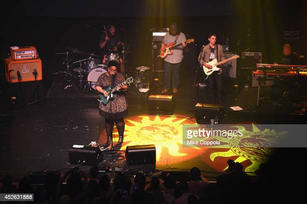 Brittany Howard of Alabama Shakes performs onstage at MercedesBenz Evolution Tour with Alabama Shakes and Questlove at Terminal 5 on July 24 2014 in...