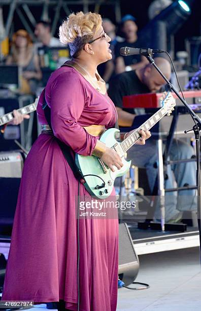 Brittany Howard of Alabama Shakes performs onstage at What Stage during Day 2 of the 2015 Bonnaroo Music And Arts Festival on June 12 2015 in...
