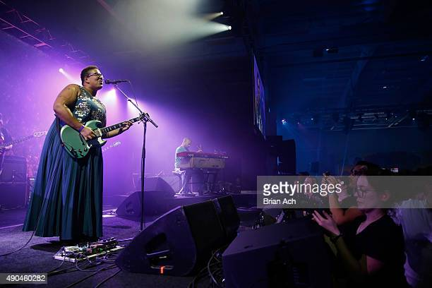 Brittany Howard of Alabama Shakes performs onstage during AOL's Future Front on September 28 2015 in New York City