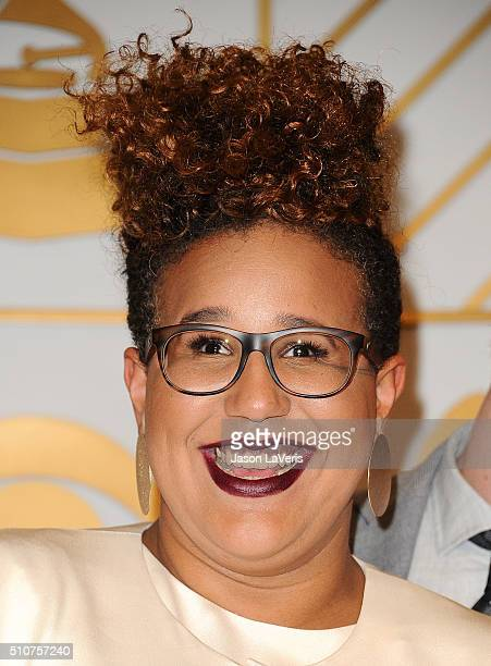 Brittany Howard of Alabama Shakes poses in the press room at the The 58th GRAMMY Awards at Staples Center on February 15 2016 in Los Angeles...