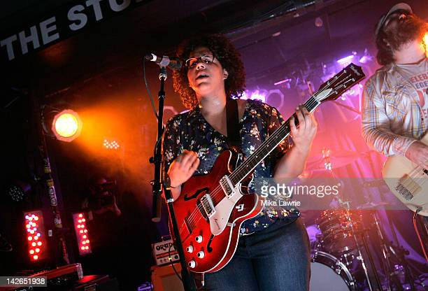 Brittany Howard of the Alabama Shakes performs during the MTV Hive Live in NYC Show at The Studio At Webster Hall on April 10 2012 in New York City
