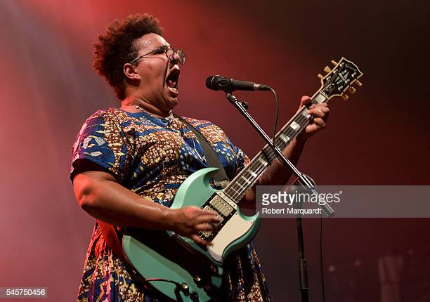 Brittany Howard of the Alabama Shakes performs in concert during the Cruilla Festival 2016 on July 9 2016 in Barcelona Spain