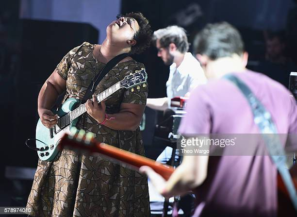 Brittany Howard of the Alabama Shakes performs onstage at the 2016 Panorama NYC Festival Day 1 at Randall's Island on July 22 2016 in New York City